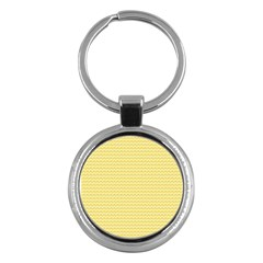 Pattern Yellow Heart Heart Pattern Key Chains (Round)