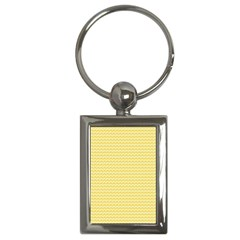 Pattern Yellow Heart Heart Pattern Key Chains (Rectangle)