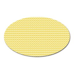 Pattern Yellow Heart Heart Pattern Oval Magnet