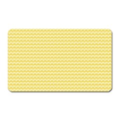 Pattern Yellow Heart Heart Pattern Magnet (Rectangular)