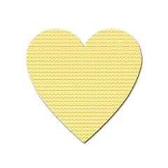 Pattern Yellow Heart Heart Pattern Heart Magnet by Nexatart