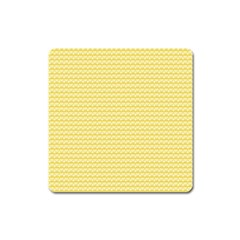 Pattern Yellow Heart Heart Pattern Square Magnet
