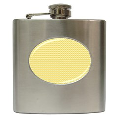 Pattern Yellow Heart Heart Pattern Hip Flask (6 oz)
