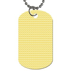 Pattern Yellow Heart Heart Pattern Dog Tag (two Sides) by Nexatart