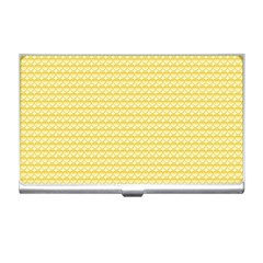 Pattern Yellow Heart Heart Pattern Business Card Holders