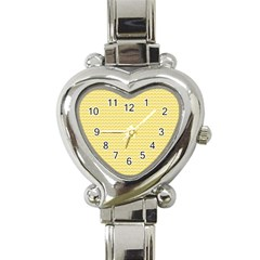 Pattern Yellow Heart Heart Pattern Heart Italian Charm Watch