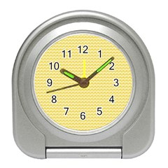 Pattern Yellow Heart Heart Pattern Travel Alarm Clocks