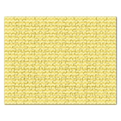 Pattern Yellow Heart Heart Pattern Rectangular Jigsaw Puzzl