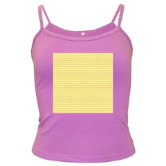 Pattern Yellow Heart Heart Pattern Dark Spaghetti Tank