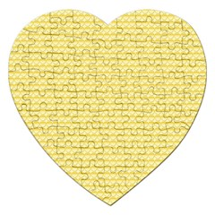 Pattern Yellow Heart Heart Pattern Jigsaw Puzzle (Heart)