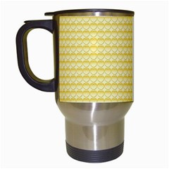 Pattern Yellow Heart Heart Pattern Travel Mugs (White)