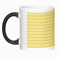 Pattern Yellow Heart Heart Pattern Morph Mugs by Nexatart
