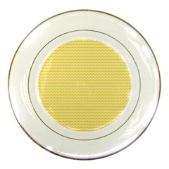 Pattern Yellow Heart Heart Pattern Porcelain Plates