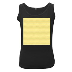 Pattern Yellow Heart Heart Pattern Women s Black Tank Top