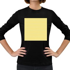 Pattern Yellow Heart Heart Pattern Women s Long Sleeve Dark T-Shirts