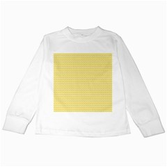 Pattern Yellow Heart Heart Pattern Kids Long Sleeve T-Shirts