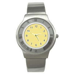 Pattern Yellow Heart Heart Pattern Stainless Steel Watch