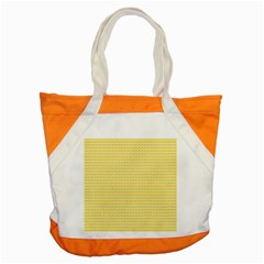 Pattern Yellow Heart Heart Pattern Accent Tote Bag