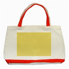 Pattern Yellow Heart Heart Pattern Classic Tote Bag (Red)