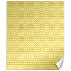 Pattern Yellow Heart Heart Pattern Canvas 8  x 10