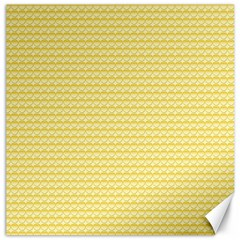 Pattern Yellow Heart Heart Pattern Canvas 16  x 16