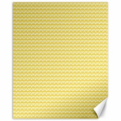 Pattern Yellow Heart Heart Pattern Canvas 16  x 20