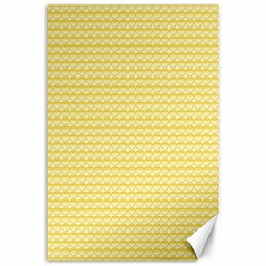 Pattern Yellow Heart Heart Pattern Canvas 24  x 36