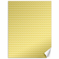 Pattern Yellow Heart Heart Pattern Canvas 36  x 48
