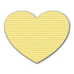 Pattern Yellow Heart Heart Pattern Heart Mousepads