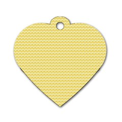 Pattern Yellow Heart Heart Pattern Dog Tag Heart (Two Sides)