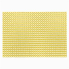 Pattern Yellow Heart Heart Pattern Large Glasses Cloth (2-Side)