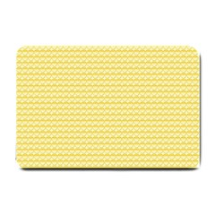 Pattern Yellow Heart Heart Pattern Small Doormat