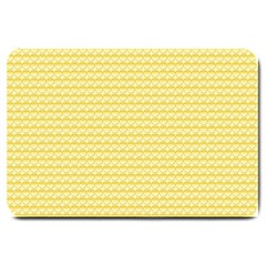 Pattern Yellow Heart Heart Pattern Large Doormat