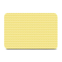Pattern Yellow Heart Heart Pattern Plate Mats