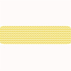 Pattern Yellow Heart Heart Pattern Large Bar Mats