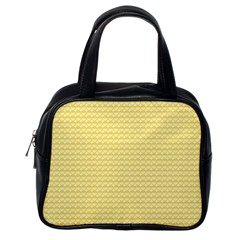 Pattern Yellow Heart Heart Pattern Classic Handbags (One Side)