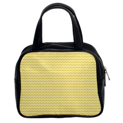 Pattern Yellow Heart Heart Pattern Classic Handbags (2 Sides)