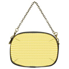 Pattern Yellow Heart Heart Pattern Chain Purses (One Side)
