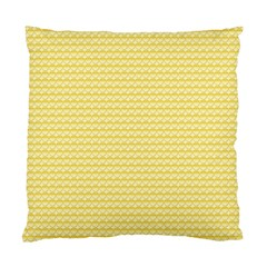 Pattern Yellow Heart Heart Pattern Standard Cushion Case (Two Sides)