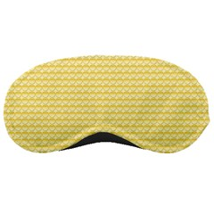 Pattern Yellow Heart Heart Pattern Sleeping Masks