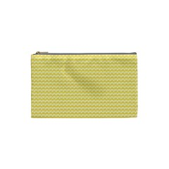 Pattern Yellow Heart Heart Pattern Cosmetic Bag (Small)