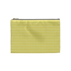 Pattern Yellow Heart Heart Pattern Cosmetic Bag (Medium)