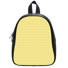 Pattern Yellow Heart Heart Pattern School Bags (Small)