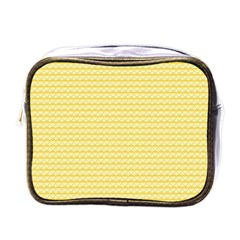 Pattern Yellow Heart Heart Pattern Mini Toiletries Bags