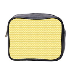 Pattern Yellow Heart Heart Pattern Mini Toiletries Bag 2 Side