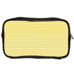 Pattern Yellow Heart Heart Pattern Toiletries Bags