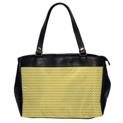 Pattern Yellow Heart Heart Pattern Office Handbags