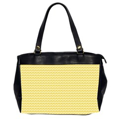 Pattern Yellow Heart Heart Pattern Office Handbags (2 Sides)