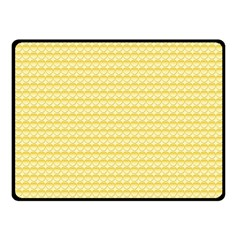 Pattern Yellow Heart Heart Pattern Fleece Blanket (Small)