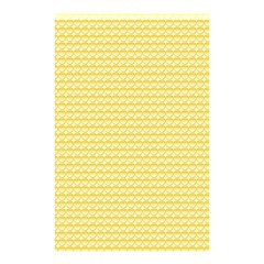Pattern Yellow Heart Heart Pattern Shower Curtain 48  x 72  (Small)